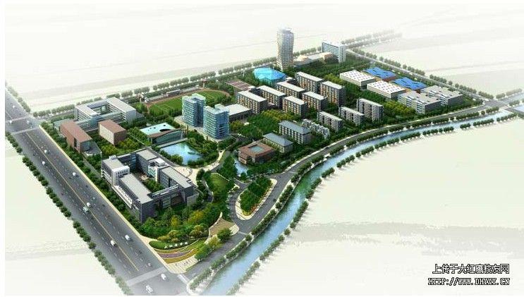宁波大红鹰学院地图位置和校园鸟瞰图